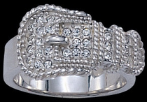 Bling Buckle Ring by Montana Silversmiths