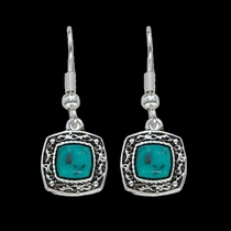 Blue Earth Turquoise Drop Earrings (ER1263)