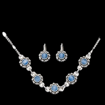 Blue Flowers Jewelry Set (JS862)