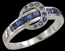 Blue Ranger Buckle Ring by Montana Silversmiths