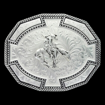 Bordertown Buckle with End of Trail  (29810BK-595)