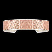 Bright CrossCut Corrugated Diamond Cuff Bracelet (BC2612SC)