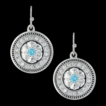 Brilliant Posy Medallion Earrings (ER3412)