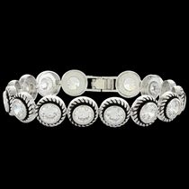 Brilliant Roped Star Light Link Bracelet (BC3246)