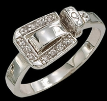 Buckle Set Ring by Montana Silversmiths