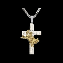 Bullrider Cross Necklace (NC37)