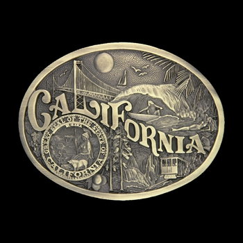 California State Heritage Attitude Buckle (60811CAC)