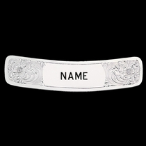 Cantle Plate with Custom Engraving 1 3\/8 x 6 1\/4 Inches (CP22E)