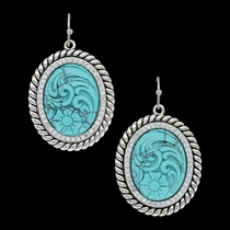 Carved Legacy Turquoise Earrings (ER3440TQ)