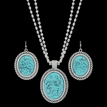 Carved Legacy Turquoise Jewelry Set (JS3440TQ)