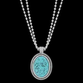 Carved Legacy Turquoise Necklace (NC3440TQ)