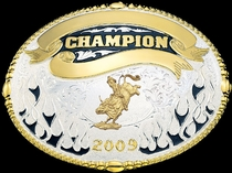 Champion Belt Buckle 17202 by Montana Silversmiths