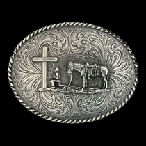 Christian Cowboy Attitude Belt Buckle (61304)