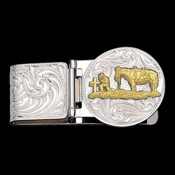 Christian Cowboy Hinged Money Clip (MCL23-99CXS)