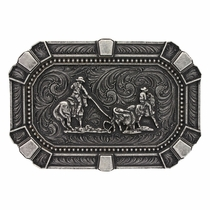 Classic Impressions Flourished Trim Attitude Buckle With Team Roper  (A486S)