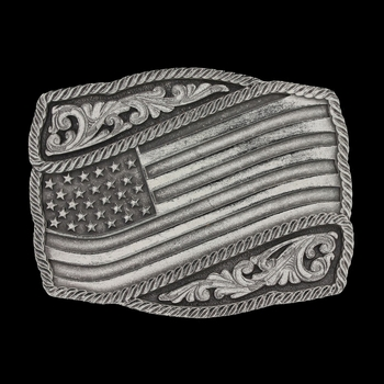 Classic Impressions Waving American Flag Attitude Buckle (A590S)