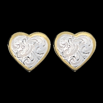 Classic Montana Heart Earrings (ER69G)