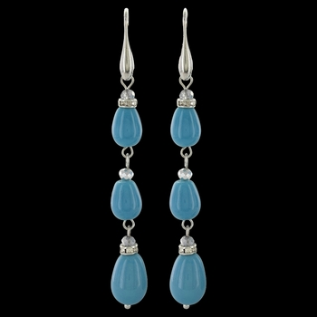 Clear Sky Triple Drop Earrings Attitude Jewelry (AER3467)