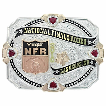 Collectible Limited Edition Silver WNFR 2016 Buckle with Display Box