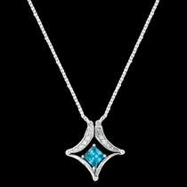 Convertible Blue Diamond River Lights Necklace (NC3065)
