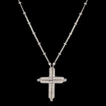 Convertible Cross and Chevrons Necklace  (NC2502)