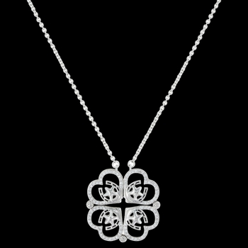 Convertible Star of My Heart Horseshoe Clover Necklace (NC3403)