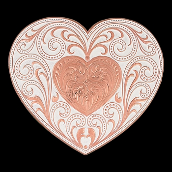 Copper Finish Heart Whispers Buckle (27400C)