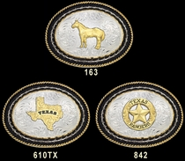 Cowboy Up Christian Buckle by Montana Silversmiths