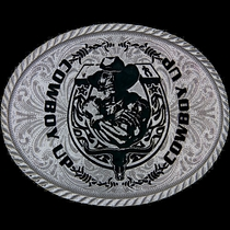 Cowboy Up Ghost Rider Attitude Buckle (A205RTS)