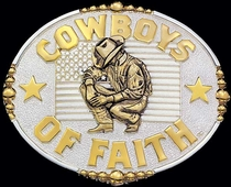 Cowboys of Faith Belt Buckle by Montana Silversmiths