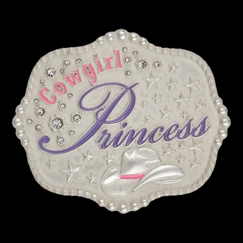 Cowgirl Princess Kid's Attitude Buckle (A416)
