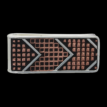 CrossCut Mesh & Bead Money Clip (MCL18SC-BK)