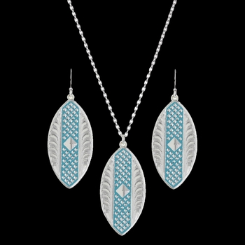 CrossCut Turquoise Marquise Jewelry Set (JS2671TQ)