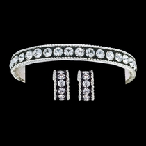 Crystal Shine Bracelet and Earring Set (JSBC1032)