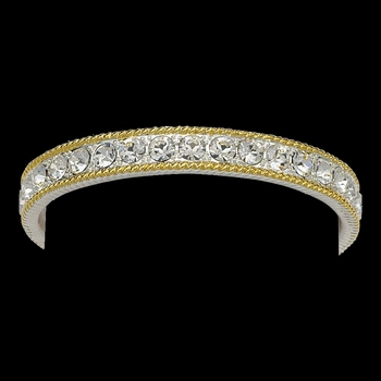Crystal Shine in Gold Bangle Bracelet (BC61520CZ)