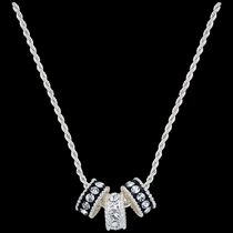 Crystal Shine Three Ring Necklace (NC1032)