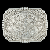 Custom Antiqued Cowboy Cameo Buckle - Any Figure (25815RTS)