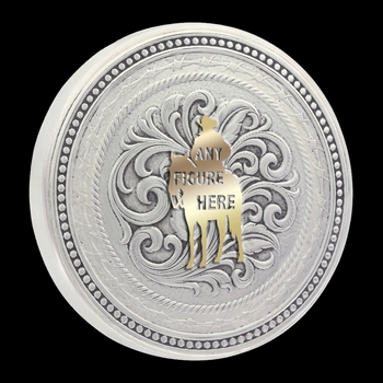 Custom New Traditions Stars and Barbed Wire Snuff Lid (LID8)