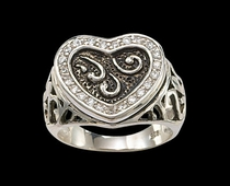 CZ Heart Ring by Montana Silversmiths