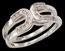 Double Horseshoe Ring 2 by Montana Silversmiths