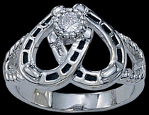 Double Horseshoe Ring by Montana Silversmiths