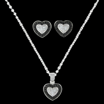 Double Layer of Love Jewelry Set (JS3028)