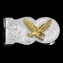 Eagle Scalloped Money Clip (MCL5)