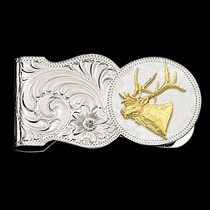 Elk Head Scalloped Money Clip (MCL7-442)