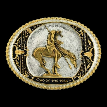End of the Trail Two Tone Attitude Belt Buckle (60972P)