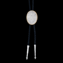 Engraved Silver Bolo Tie (BT39)