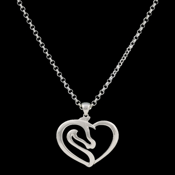Equestrian Heart Necklace  (NC2504)