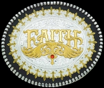 Faith Belt Buckle by Montana Silversmiths