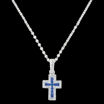 Faith Found in the River Lights Cross Necklace (NC3066)