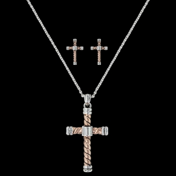 Faith is an Open Book Cross Jewelry Set (JS3035)